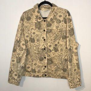 Vintage floral art to wear lightweight jacket
